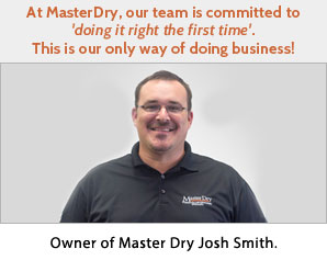 Jonathan Babcock owner of Master Dry